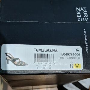 Naturalizer black Taimi slingback